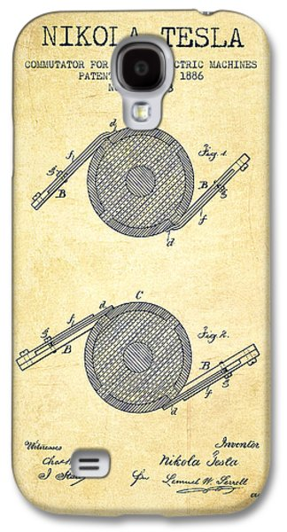 Generators Galaxy S4 Cases - Nikola Tesla Patent Drawing From 1886 - Vintage Galaxy S4 Case by Aged Pixel