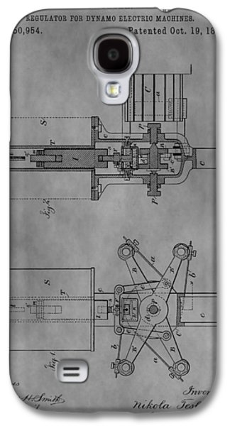 Electricity Drawings Galaxy S4 Cases - Nikola Teslas Patent Galaxy S4 Case by Dan Sproul