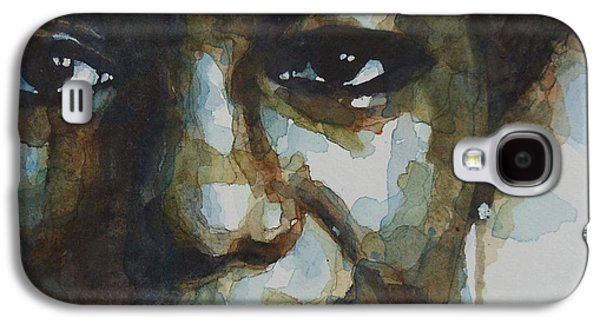 Watercolor Paintings Galaxy S4 Cases - Nina Simone Galaxy S4 Case by Paul Lovering