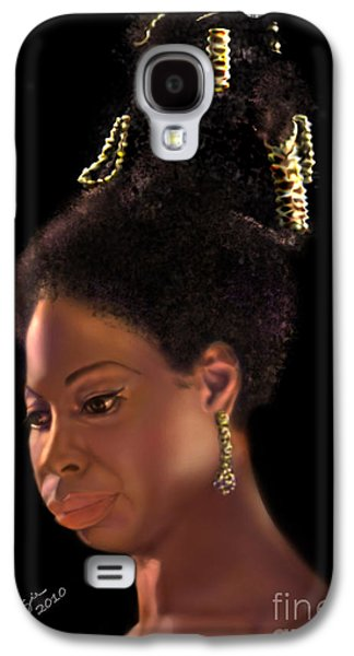 African-american Galaxy S4 Cases - Nina Simone Galaxy S4 Case by Reggie Duffie