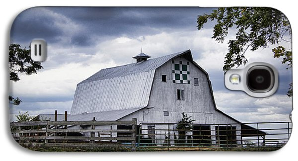 Nine Patch Quilt Barn Galaxy S4 Case by Cricket Hackmann