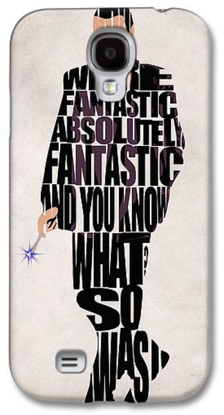 Minimalist Poster Galaxy S4 Cases - Ninth Doctor - Doctor Who Galaxy S4 Case by Ayse Deniz