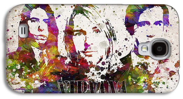 Famous Band Galaxy S4 Cases - Nirvana in Color Galaxy S4 Case by Aged Pixel
