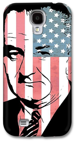 Government Mixed Media Galaxy S4 Cases - Lyndon Johnson Galaxy S4 Case by Dan Sproul