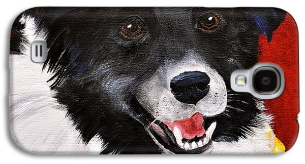 Cattle Dog Paintings Galaxy S4 Cases - Nixon Galaxy S4 Case by Debi Starr