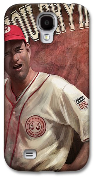 Crying Galaxy S4 Cases - No Crying In Baseball Galaxy S4 Case by Steve Goad
