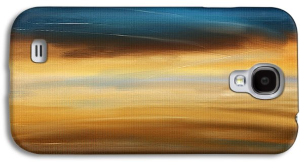 Sunset Abstract Galaxy S4 Cases - No Ending Galaxy S4 Case by Lourry Legarde