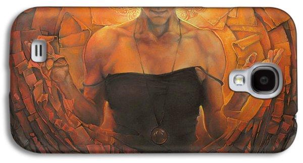 Light Pastels Galaxy S4 Cases - No Title 3 Galaxy S4 Case by Graszka Paulska