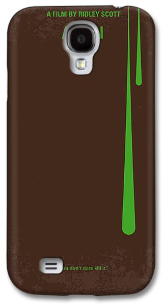No004 My Alien Minimal Movie Poster Galaxy S4 Case by Chungkong Art