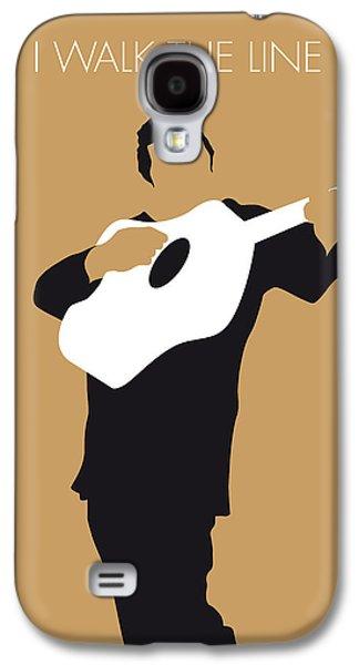 Fan Art Galaxy S4 Cases - No010 MY Johnny Cash Minimal Music poster Galaxy S4 Case by Chungkong Art