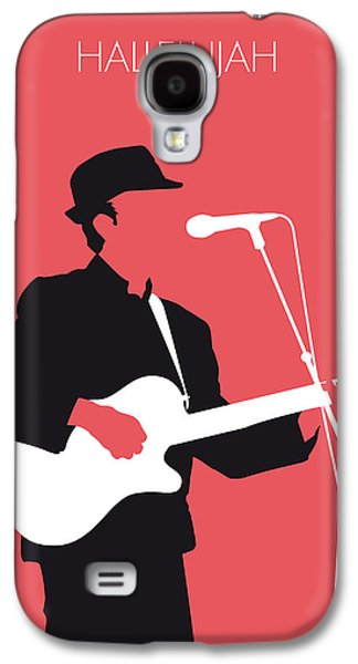 Graphic Design Galaxy S4 Cases - No042 MY LEONARD COHEN Minimal Music Galaxy S4 Case by Chungkong Art