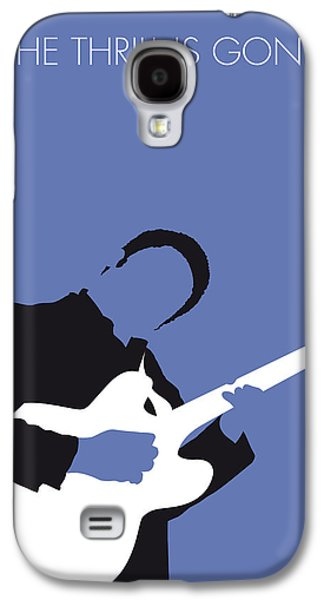 West Digital Art Galaxy S4 Cases - No048 MY BB KING Minimal Music poster Galaxy S4 Case by Chungkong Art