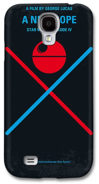 No080 My Star Wars Iv Movie Poster Galaxy S4 Case by Chungkong Art