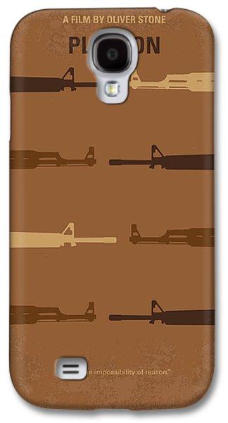 Stone Digital Galaxy S4 Cases - No115 My Platoon minimal movie poster Galaxy S4 Case by Chungkong Art
