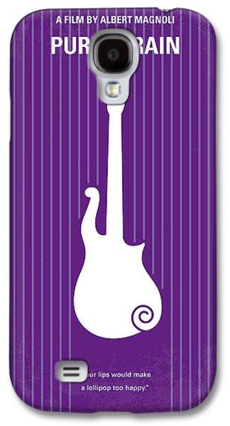 Purple Galaxy S4 Cases - No124 My PURPLE RAIN minimal movie poster Galaxy S4 Case by Chungkong Art