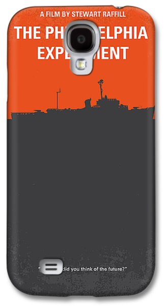 Philadelphia Digital Galaxy S4 Cases - No126 My The Philadelphia Experiment minimal movie poster Galaxy S4 Case by Chungkong Art