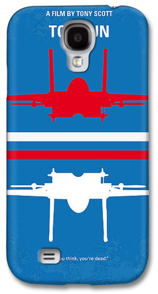 Wall Art Prints Digital Art Galaxy S4 Cases - No128 My TOP GUN minimal movie poster Galaxy S4 Case by Chungkong Art
