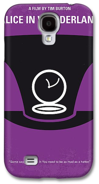 Rabbit Digital Galaxy S4 Cases - No140 My Alice in Wonderland minimal movie poster Galaxy S4 Case by Chungkong Art