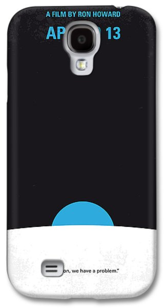 Moon Digital Galaxy S4 Cases - No151 My Apollo 13 minimal movie poster Galaxy S4 Case by Chungkong Art