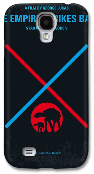 Movie Galaxy S4 Cases - No155 My STAR WARS Episode V The Empire Strikes Back minimal movie poster Galaxy S4 Case by Chungkong Art