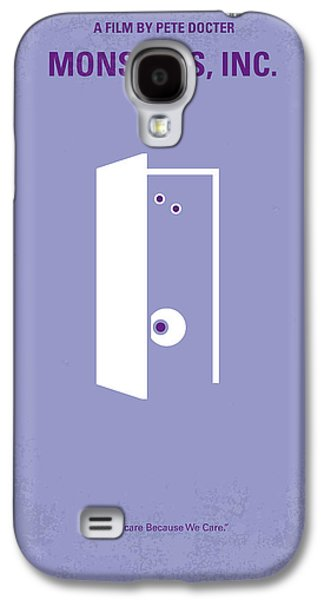Fun Digital Galaxy S4 Cases - No161 My Monster Inc minimal movie poster Galaxy S4 Case by Chungkong Art