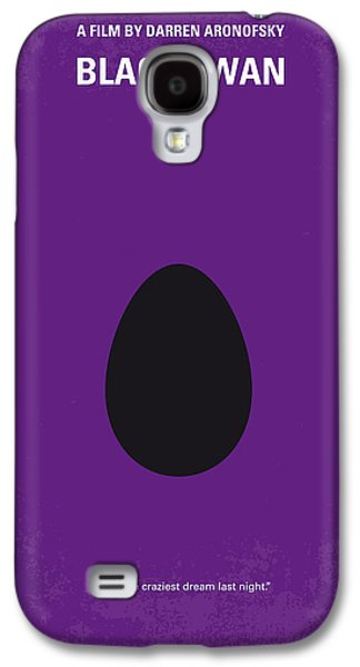 The New York New York Galaxy S4 Cases - No162 My Black Swan minimal movie poster Galaxy S4 Case by Chungkong Art