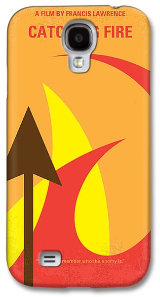 Fight Digital Art Galaxy S4 Cases - No175-2 My CATCHING FIRE - The Hunger Games minimal movie poster Galaxy S4 Case by Chungkong Art