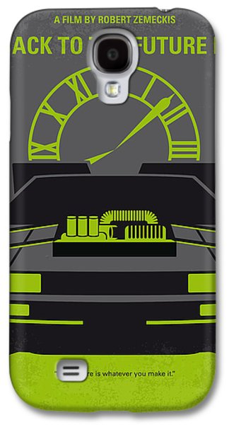 Michael Digital Galaxy S4 Cases - No183 My Back to the Future minimal movie poster-part III Galaxy S4 Case by Chungkong Art