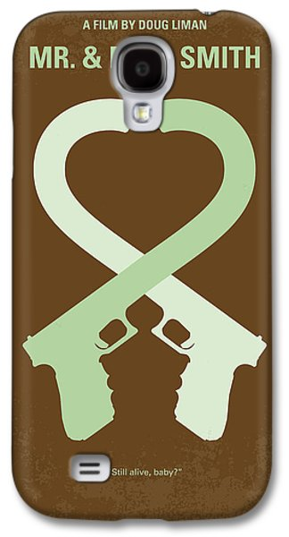 Fight Digital Art Galaxy S4 Cases - No187 My Mr and Mrs. Smith minimal movie poster Galaxy S4 Case by Chungkong Art