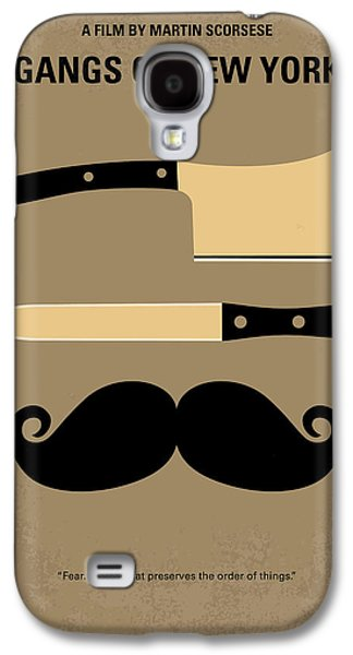 Movie Galaxy S4 Cases - No195 My Gangs of New York minimal movie poster Galaxy S4 Case by Chungkong Art