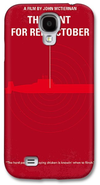 Cold Galaxy S4 Cases - No198 My The Hunt for Red October minimal movie poster Galaxy S4 Case by Chungkong Art