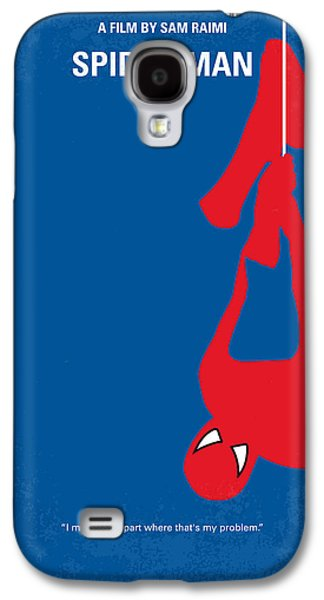 No201 My Spiderman Minimal Movie Poster Galaxy S4 Case by Chungkong Art
