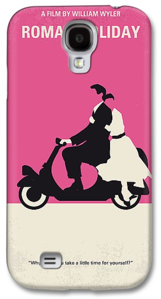 Holiday Galaxy S4 Cases - No205 My Roman Holiday minimal movie poster Galaxy S4 Case by Chungkong Art
