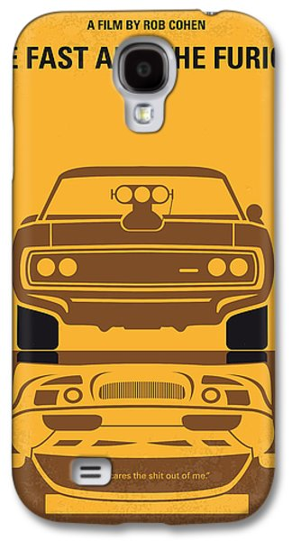 Race Galaxy S4 Cases - No207 My The Fast and the Furious minimal movie poster Galaxy S4 Case by Chungkong Art
