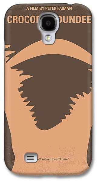 Reptiles Digital Galaxy S4 Cases - No210 My Crocodile Dundee minimal movie poster Galaxy S4 Case by Chungkong Art