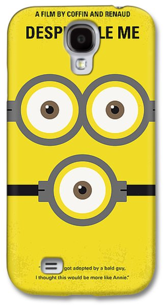 Moon Digital Galaxy S4 Cases - No213 My Despicable me minimal movie poster Galaxy S4 Case by Chungkong Art