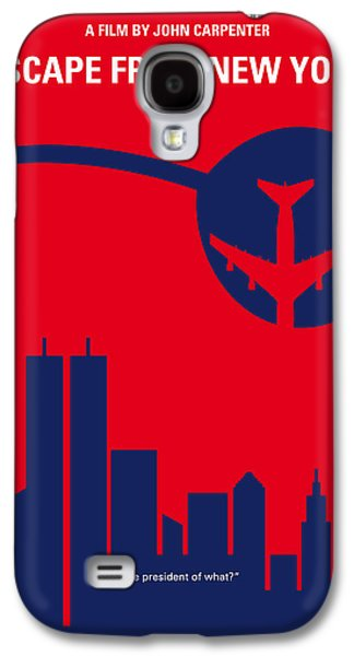 No219 My Escape From New York Minimal Movie Poster Galaxy S4 Case by Chungkong Art