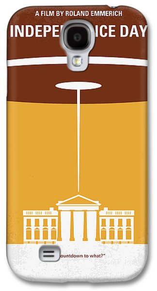 4th July Digital Galaxy S4 Cases - No249 My INDEPENDENCE DAY minimal movie poster Galaxy S4 Case by Chungkong Art