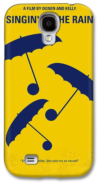 No254 My Singin In The Rain Minimal Movie Poster Galaxy S4 Case by Chungkong Art