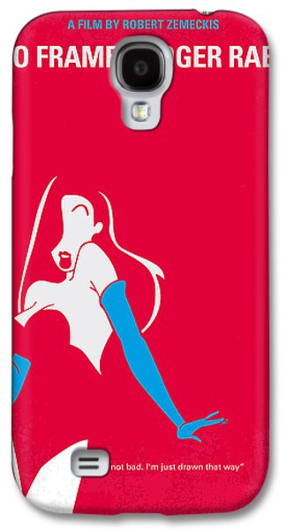 Cartoon Galaxy S4 Cases - No271 My ROGER RABBIT minimal movie poster Galaxy S4 Case by Chungkong Art