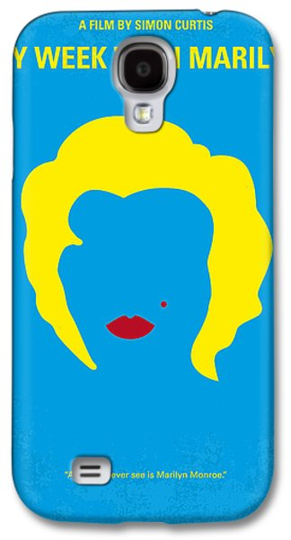 No284 My Week With Marilyn Minimal Movie Poster Galaxy S4 Case by Chungkong Art