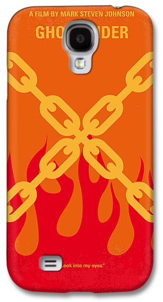 Cage Galaxy S4 Cases - No296 My GHOST RIDER minimal movie poster Galaxy S4 Case by Chungkong Art