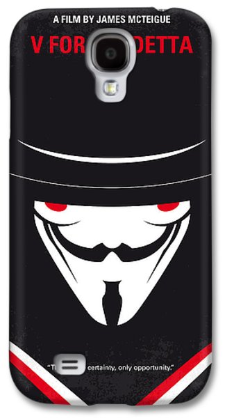 Fighters Galaxy S4 Cases - No319 My V for Vendetta minimal movie poster Galaxy S4 Case by Chungkong Art