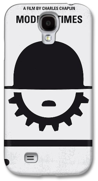 Modern Digital Art Galaxy S4 Cases - No325 My MODERN TIMES minimal movie poster Galaxy S4 Case by Chungkong Art
