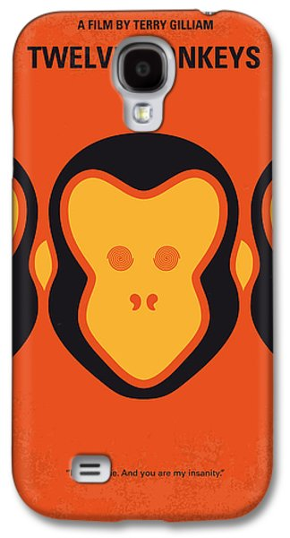 Viruses Galaxy S4 Cases - No355 My 12 MONKEYS minimal movie poster Galaxy S4 Case by Chungkong Art