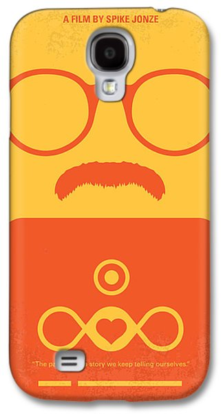No372 My Her Minimal Movie Poster Galaxy S4 Case by Chungkong Art