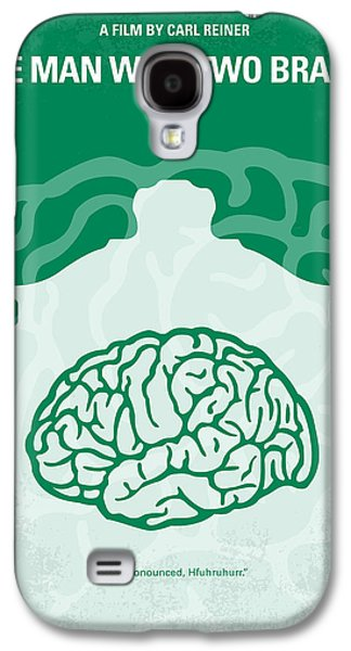 Michael Digital Galaxy S4 Cases - No390 My The Man With Two Brains minimal movie poster Galaxy S4 Case by Chungkong Art