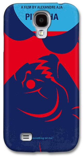 Piranha Galaxy S4 Cases - No433 My Piranha minimal movie poster Galaxy S4 Case by Chungkong Art