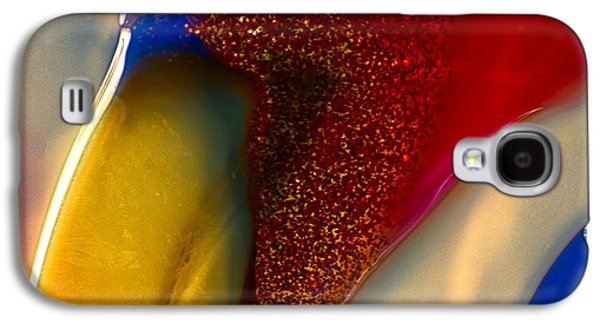 Red Abstract Glass Art Galaxy S4 Cases - Noble Bird Galaxy S4 Case by Omaste Witkowski