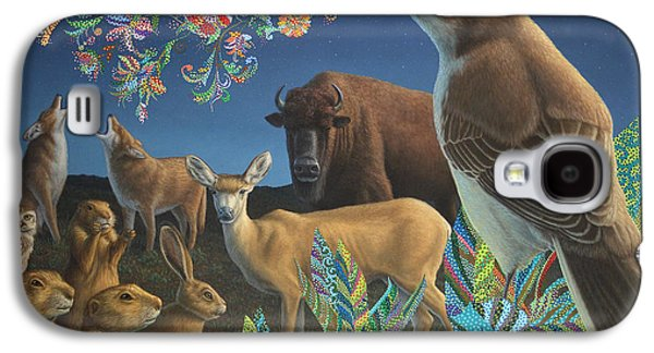 Bison Paintings Galaxy S4 Cases - Nocturnal Cantata Galaxy S4 Case by James W Johnson